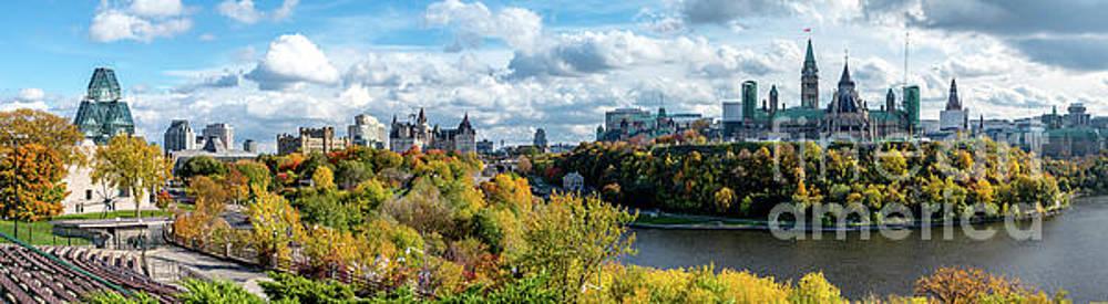 Panorama of Ottawa Looking towards Parliament Hill  by Robert McAlpine