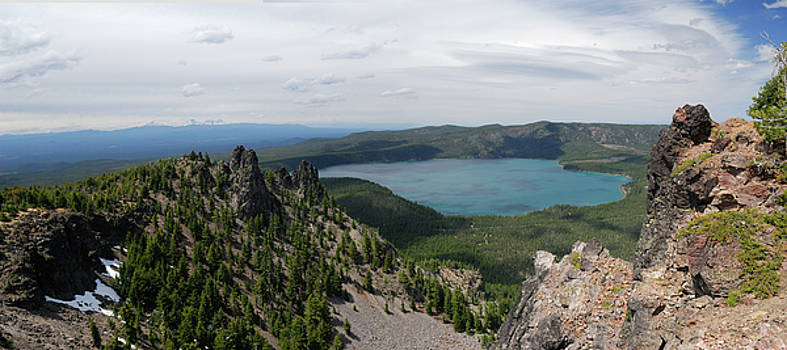 Reimar Gaertner - Panorama of Paulina Lake from Paulina Peak Oregon