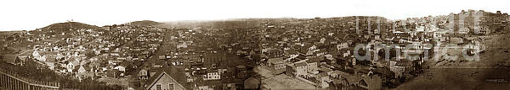 California Views Mr Pat Hathaway Archives - Panorama of San Francisco Copy by T.E. Hecht from an 1855 image