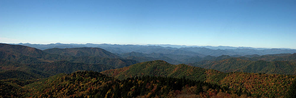 Jill Lang - Panorama of the North Carolina Mountains in the Fall