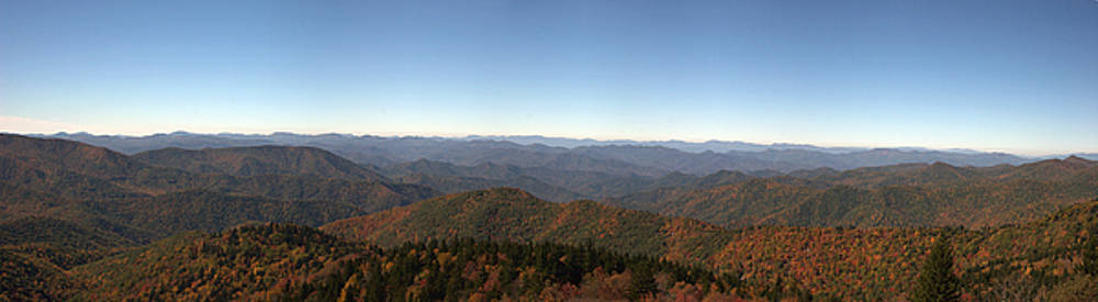 Jill Lang - Panorama of the North Carolina Mountains