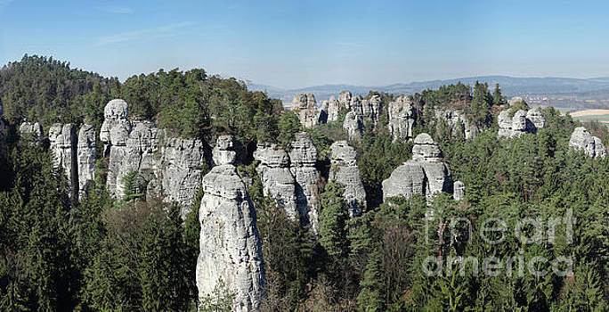 Panorama of the rock town in the Bohemian Paradise by Michal Boubin