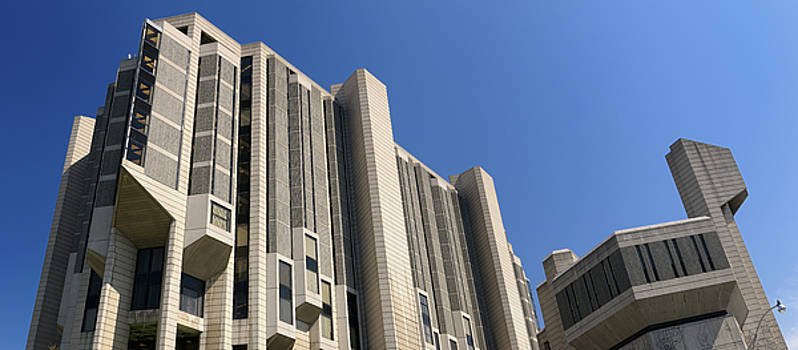 Reimar Gaertner - Panorama of the University of Toronto Robarts Library Brutalist