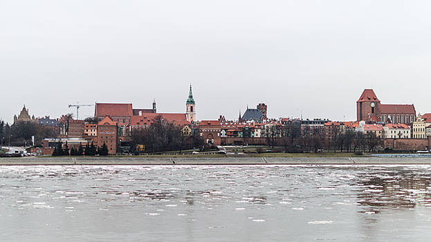 Jacek Wojnarowski - Panorama of Torun - view from the bridge over the river Vistula