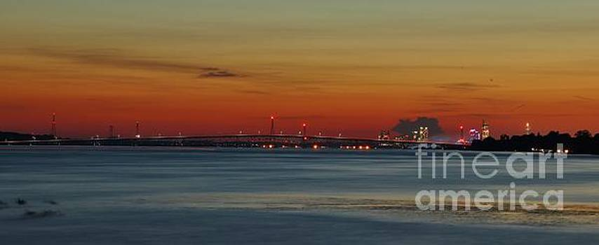 Panorama of Upper Niagara Sunset  by Tony Lee