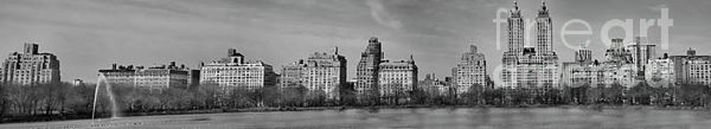 Chuck Kuhn - Panorama West Central Park BW