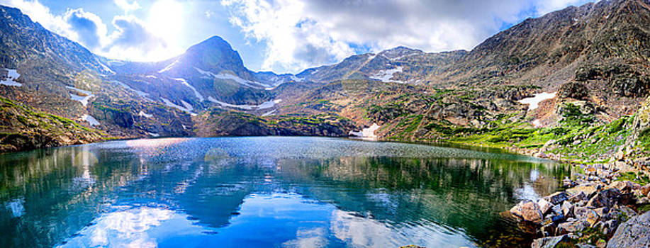 Panoramic Blue Lake by James O Thompson