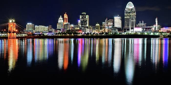 Panoramic Lights  in Cincinnati 2017 by Frozen in Time Fine Art Photography