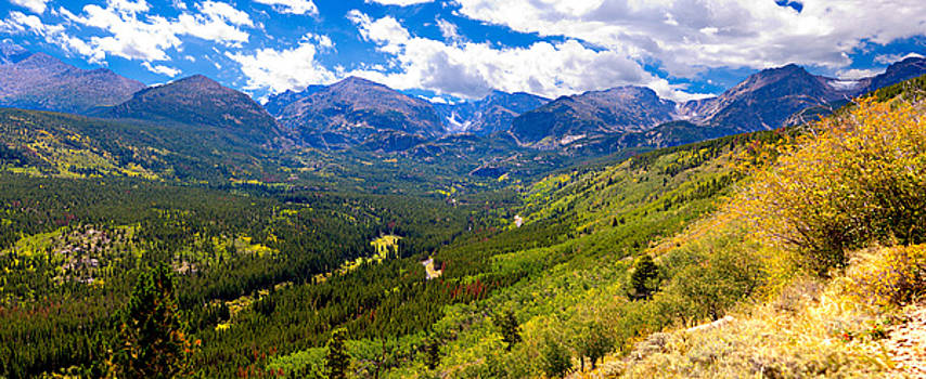 Panoramic Mountain Peaks by James O Thompson