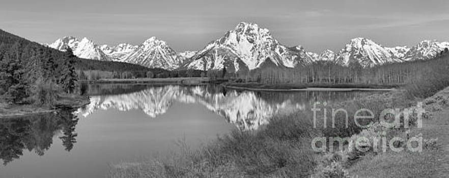 Adam Jewell - Panoramic Reflections At Oxbow Black And White