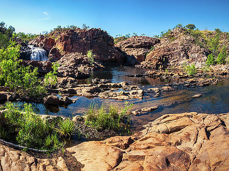 Panoramic view at Edith Falls, Katherine, Australia by Daniela Constantinescu