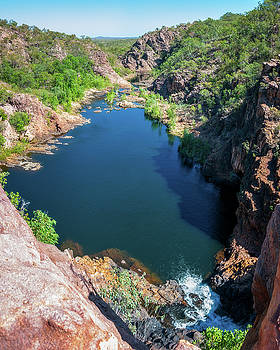 Panoramic view from above at Edith Falls, Australia by Daniela Constantinescu