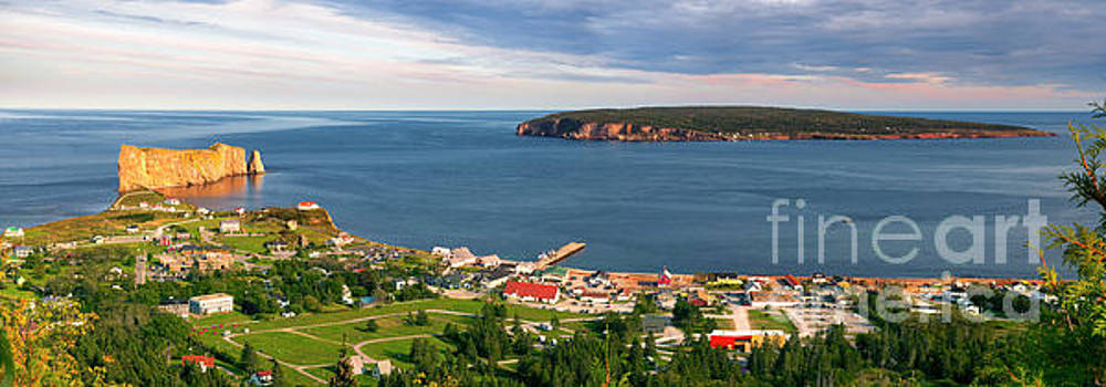 Panoramic view in Perce Quebec by Elena Elisseeva