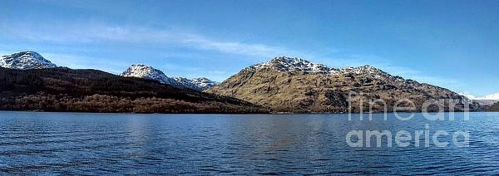 Panoramic View of Loch Lomond 2 by Joan-Violet Stretch