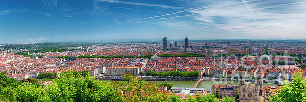 Panoramic View of Lyon from the Fourviere Hill by George Oze