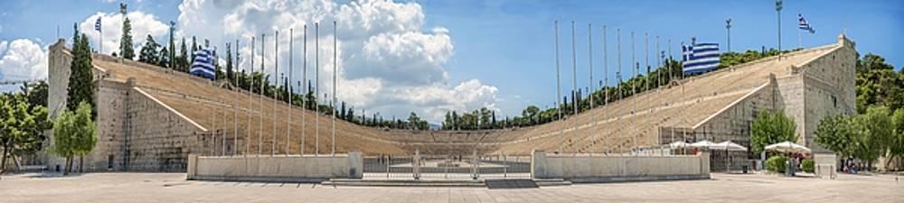 Eduardo Huelin - Panoramic View of Panathenaic stadium in Athens Greece