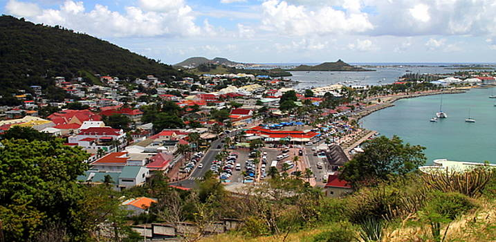 Panoramic View of Philipsburg Harbor by Laurel Talabere