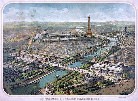 Panoramic view of the Exposition Universelle, Paris, 1900 by Vintage Printery