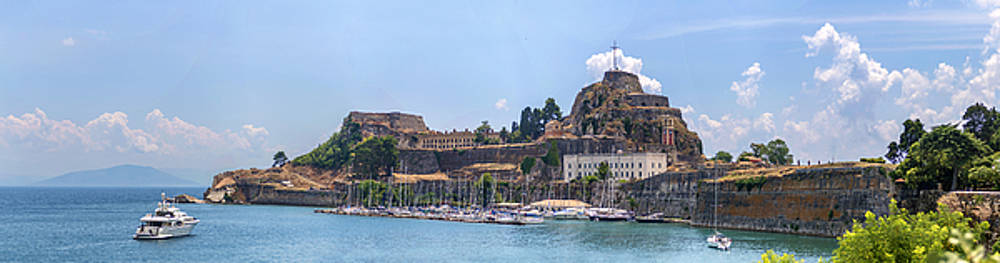 Eduardo Huelin - Panoramic view of thr Old Fortress in the city of Corfu Greece