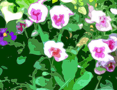 Linda Mears - Pansy Flower Garden panel two of two