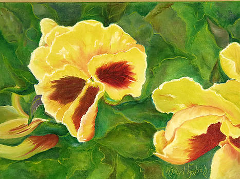 Pansies by Rosemary Buettgenbach