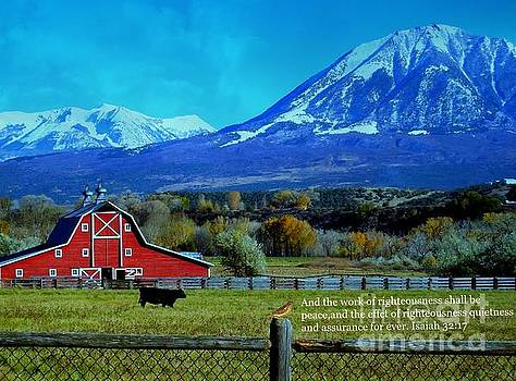 Paonia Mountain and Barn by Annie Gibbons
