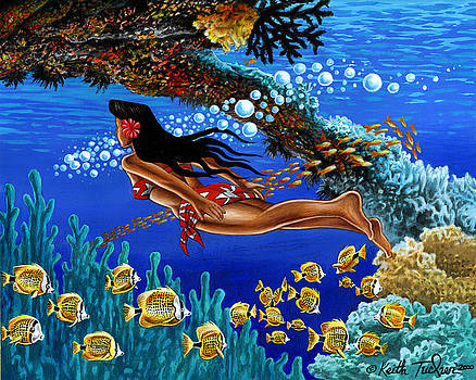Papaku means Bottom of the Ocean in Hawaiian by Keith Tucker