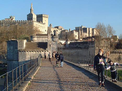 Papal Palace Avignon by Charles  Ridgway