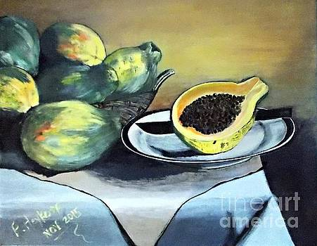 Papaya still life by Francine Heykoop