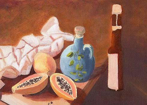 Papayas and Pitcher by Selma Suliaman