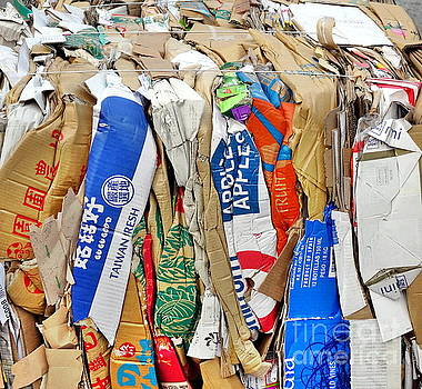 Paper and Old Boxes Ready for Recycling by Yali Shi