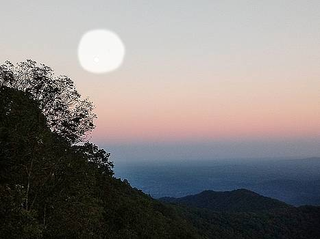 Paper Moon Over Blue Ridge by Kathy Barney