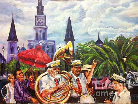 Parade Past the Cathedral by Beverly Boulet