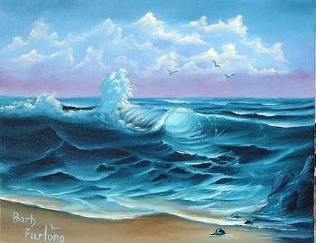 Paradise Beach seascape oil painting by Barbara Furlong