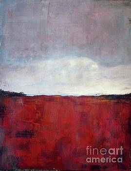 Paradise Red Field by Vesna Antic
