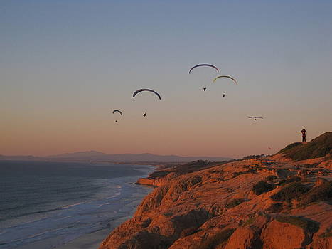 Paragliders at Sunset by Paintings by Parish
