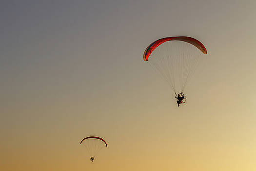 Paragliders  by Stelios Kleanthous
