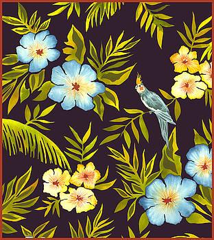 Parakeet Hibiscus by Leslie Marcus