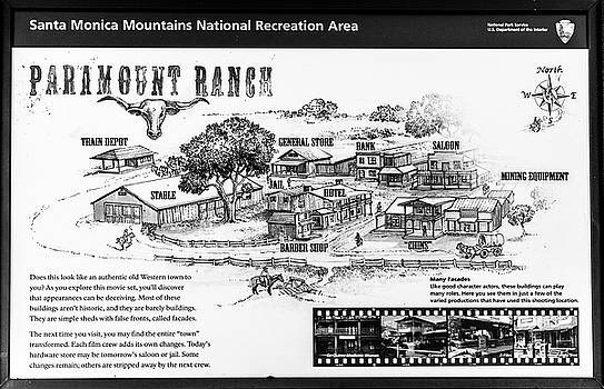 Paramount Ranch - Black And White by Gene Parks