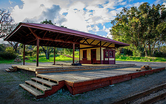 Paramount Ranch Train Deport by Gene Parks