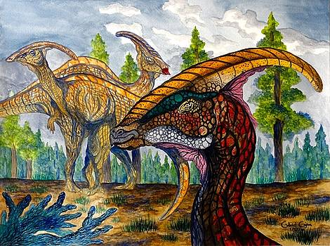 Parasaurolophus by Gabriel Cajina