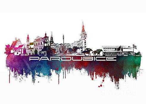 Justyna Jaszke JBJart - Pardubice skyline city blue