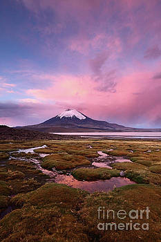 James Brunker - Parinacota Volcano and Lago Chungara at Twilight