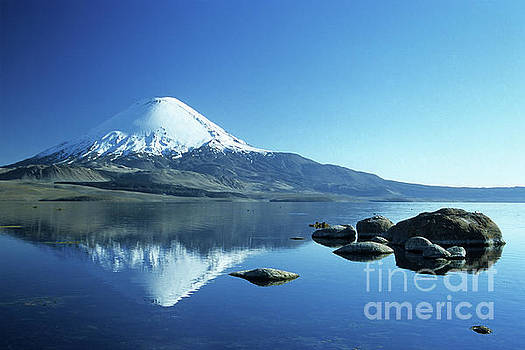 James Brunker - Parinacota volcano reflections Chile