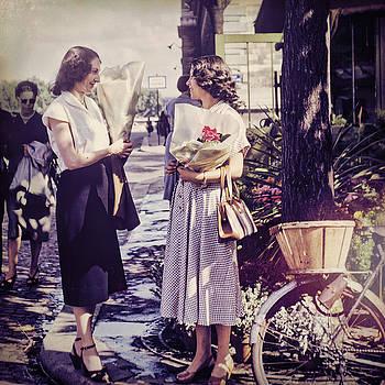 Paris 1952 Street Scene by Eric Bjerke Sr