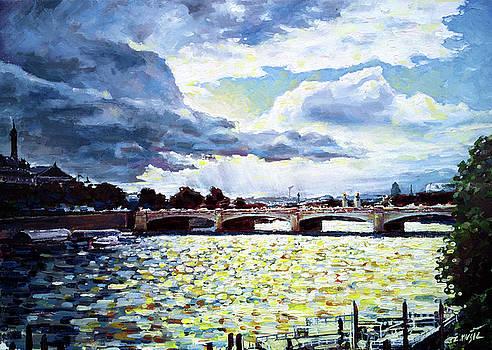 Paris after summer rain by Zlatko Music