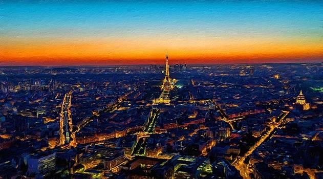 Paris after sunset by Vincent Monozlay