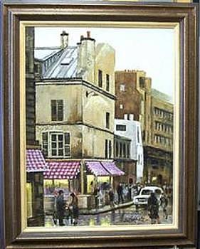 Paris Chestnut Vendor- Original Oil On Panel by Larry Wetherholt