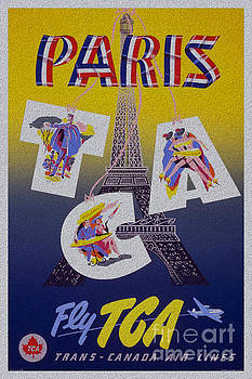 R Muirhead Art - Paris Fly TGA stylish classic poster