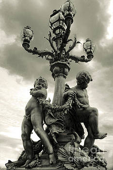 Gregory Dyer - Paris France Cupids in Sepia